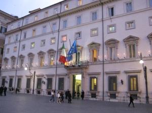 Palazzo Chigi, sede del Consiglio dei Ministri