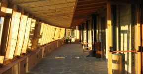 Una parte del centro costruita con materiali ecosostenibili