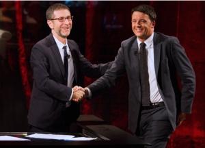 Mattero Renzi e Fabio Fazio