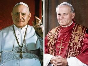 San Giovanni XXII e San Giovanni Paolo II
