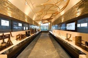 L'interno del museo leonardiano