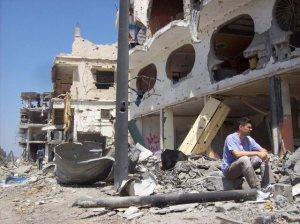 Marco Rodai tra le macerie di Gaza