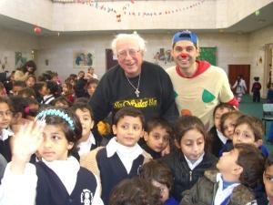 Don Silvio (Mago Sales) e Marco Rodari (il Pimpa) a Gaza