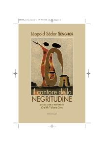 """La copertina del libro """"Il cantore della negrititudine"""""""