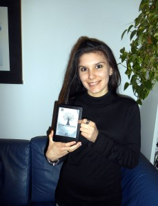 Martina dei Cas  il premio ricevuto da MeBook