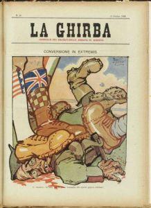 Una copertina del giornale di trincea La Ghirba