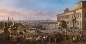 Veduta della Piazza e del palazzo dipinta da Gaspar van Witel nel 1683