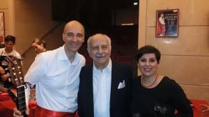 Claudio De Bartolomeis e Diana Ronca con Luigi De Filippo
