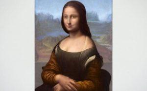 Il dipinto nascosto ricostruito da Pascal Cotte (foto BBC)